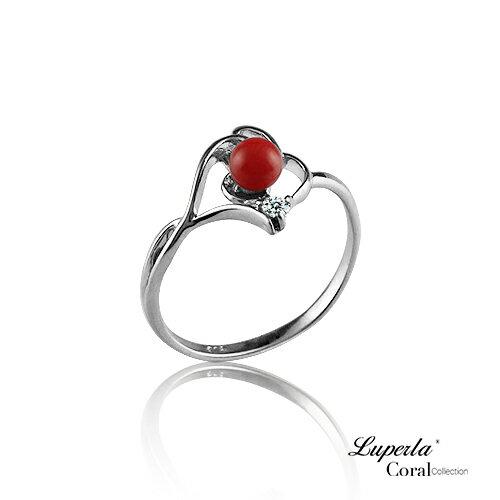 大東山珠寶 福壽安康 全紅珊瑚純銀戒指
