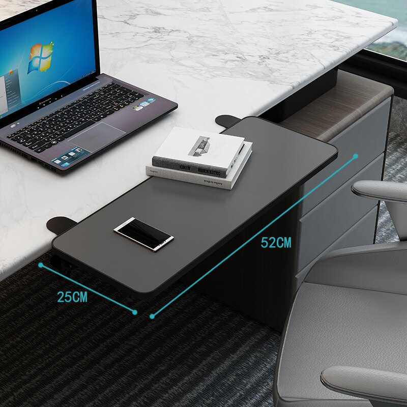 桌面延長板 桌面延長板免打孔擴展電腦桌子延伸加長板托架加寬折疊板鍵盤手托『CM44837』