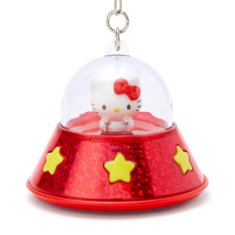 凱蒂貓kitty 發光 吊飾 飛碟 F66 鑰匙圈 UFO 掛飾 擺飾 鑰匙鏈 掛件 真愛日本
