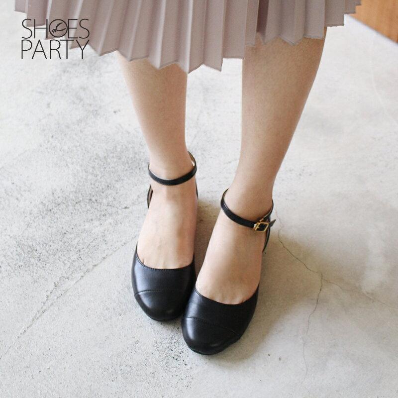 【P2-17112L】真皮拼接平底赫本鞋_Shoes Party 2