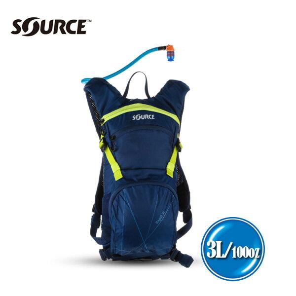 以色列SOURCE戶外健行水袋背包Rapid2052526403【深藍綠】3L.城市綠洲(單車.跑步.登山)