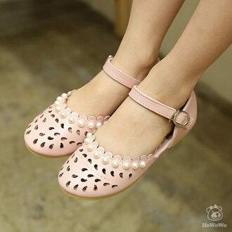 嬰幼兒涼鞋 縷空包頭PU涼鞋 娃娃鞋 童鞋(16-18.5公分) KL12301 好娃娃