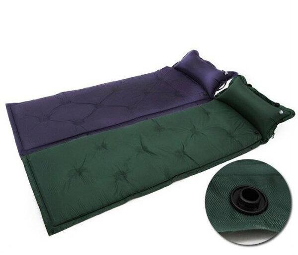 《沛大旗艦店》$250充氣床墊自動膨脹睡墊帶枕送收納袋多張可拼接防潮登山露營自動充氣訪客【S70】
