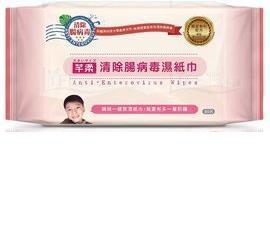 芊柔 清除腸病毒濕紙巾80抽/包*12包/箱