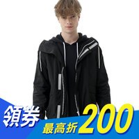 Lee 連帽開襟外套-男款-黑色-Lee Jeans tw-潮流男裝推薦