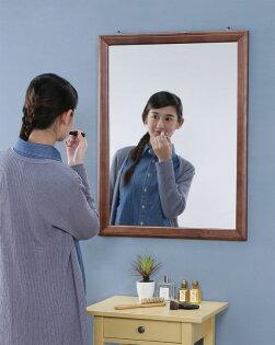 馥葉生活館:實木框壁鏡(80*60公分)掛鏡穿衣鏡全身鏡化妝鏡【馥葉】【型號MR0860WA】