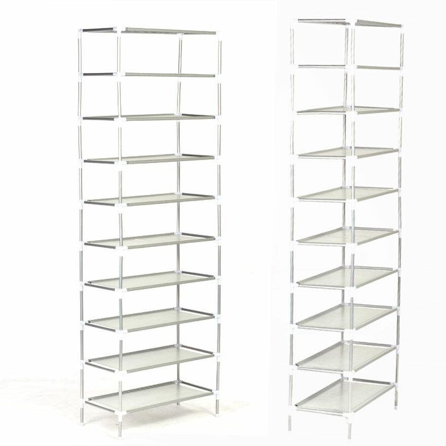 10 Tiers Easy Assembled Shoe Rack Stand Sturdy Shelf Storage Organizer 0