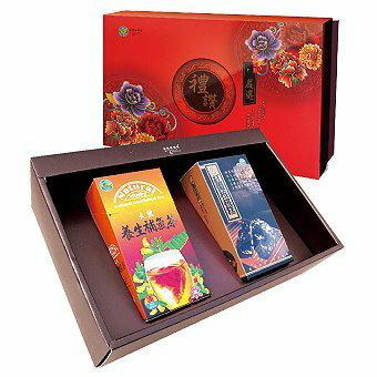 美纖小舖:台灣綠源寶嚴選禮讚年節養生禮盒A-5(補氣茶禮盒組)補氣茶+黑棗核桃糕