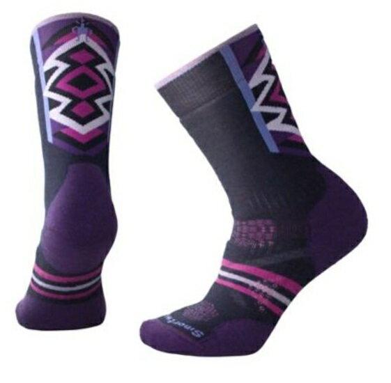 【【蘋果戶外】】Smartwool SW001005 092 深海軍藍 PhD Nordic 女款 中量級減震印花中長統筒襪 登山襪 美國製造 美麗諾羊毛襪 保暖