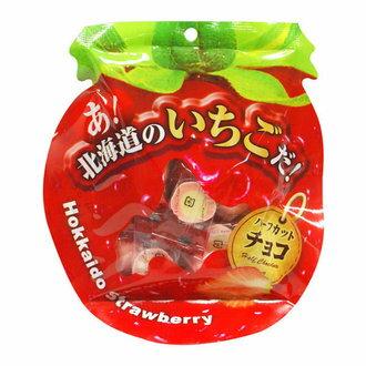 [草莓季]北海道草莓切半巧克力(造型袋) 65g