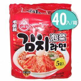 ~樂焙客~~韓國不倒翁OTTOGI 泡菜拉麵~40入(箱)~ 味香麵Q~100%韓國產 .