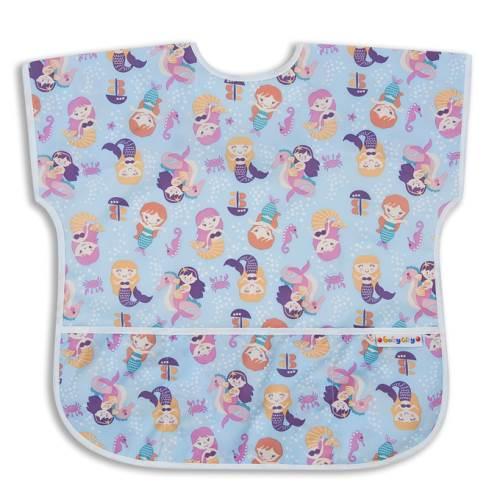 【任二入95折】BabyCity娃娃城-防水短袖圍兜(1-3A)紫色美人魚