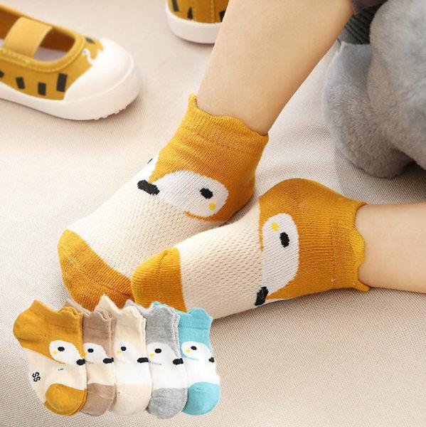 EMMA商城~兒童薄款襪網眼船襪小狐狸造型寶寶童襪
