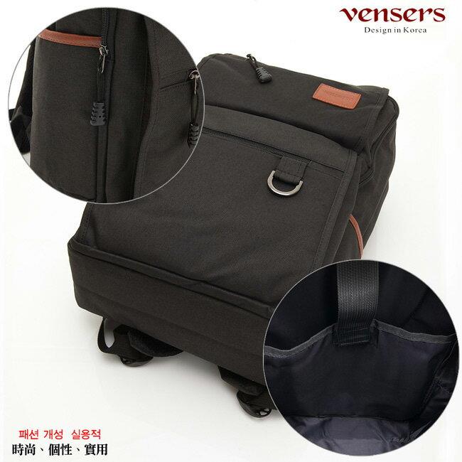 【vensers】簡約丹寧牛仔後背包(R00066101黑色) 5