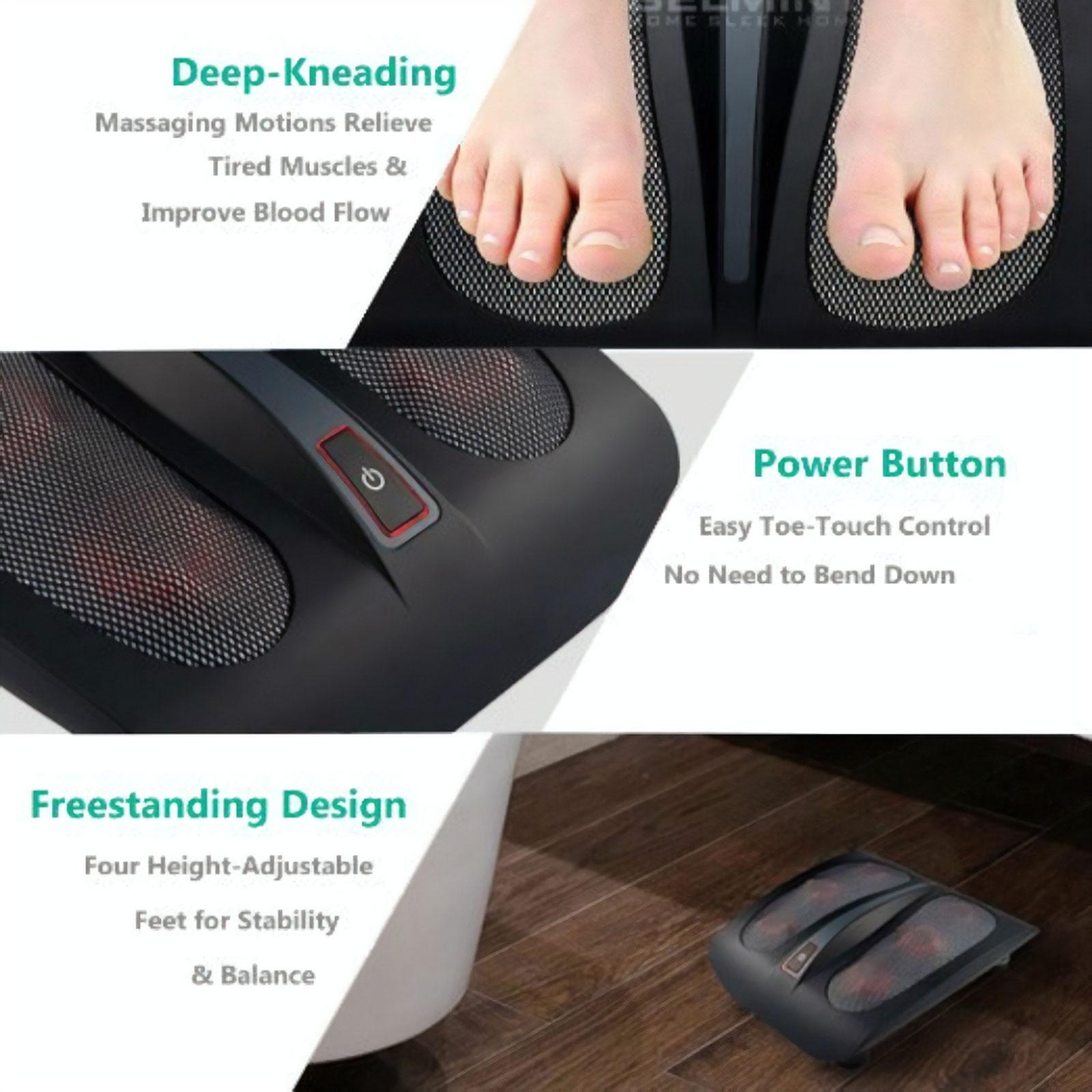 Belmint Shiatsu Foot Massager w/ Built-In Heat Function - Deep Kneading Therapy 3