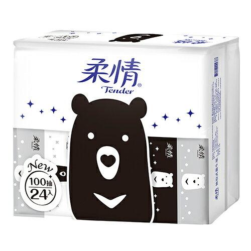 柔情抽取式衛生紙(經典款)100抽*24包【愛買】