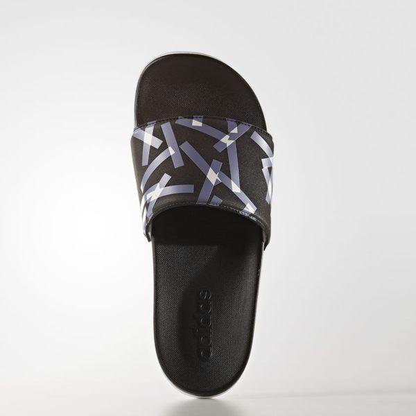 ADIDASADILETTECF+TR女鞋拖鞋休閒柔軟輕量黑藍白【運動世界】S81128
