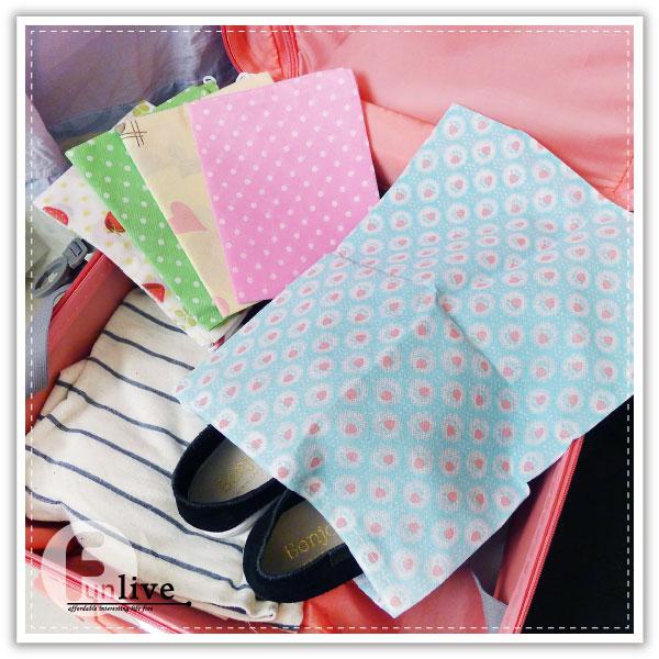 【aife life】彩色印花無紡鞋袋/鞋子收納包/收納袋/旅行收納袋/衣物整理袋/分類袋/束口袋/布袋