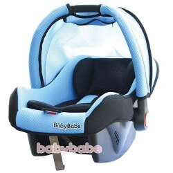 【Babybabe】DS-700-B 兒童汽車安全提籃座椅 (藍/紅)