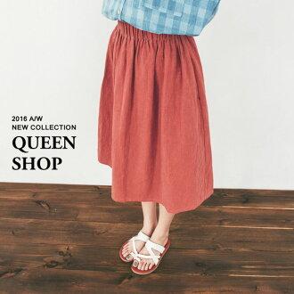 Queen Shop【03030144】素色鬆緊棉麻長裙 三色售*現貨+預購*
