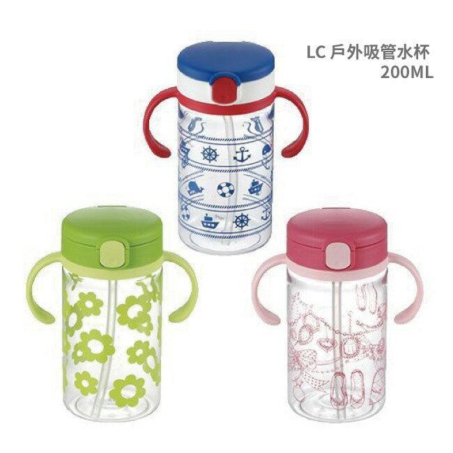(出清特殺)【RICHELL日本利其爾】戶外吸管水杯-二代 200ML- 藍色海洋 2