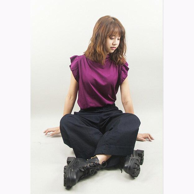 小立領荷葉袖氣質背心(5色)