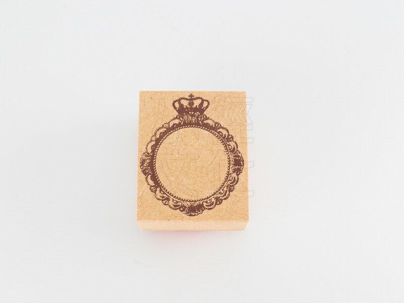 *小徑文化*日本進口手作雑貨 TOKYO ANTIQUE stamp - 王冠のミラー ( B4335O-M )