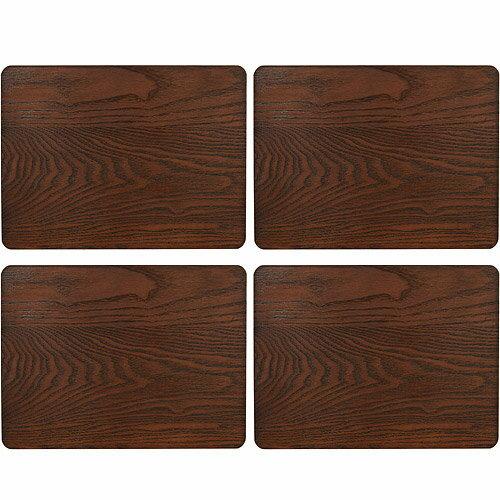 《CreativeTops》木紋餐墊4入(深棕29cm)