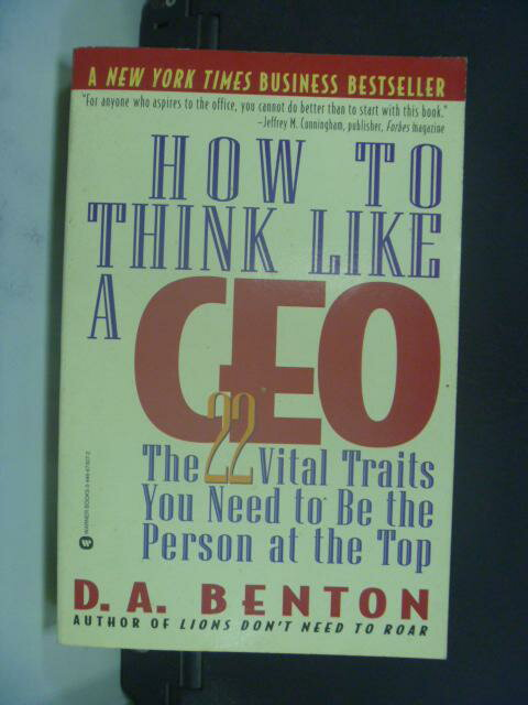 ~書寶 書T7/原文小說_GCX~HOW TO IHINK LIKE A CEO ~  好