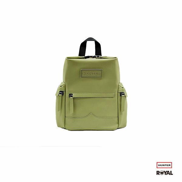 Hunter 新竹皇家Original Rubberised 綠色 防水 橡膠 皮革 後背包 Mini NO.H1668 0