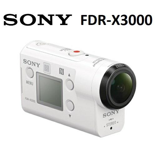 【免運費】SONY FDR-X3000 4K運動攝影機 (公司貨)