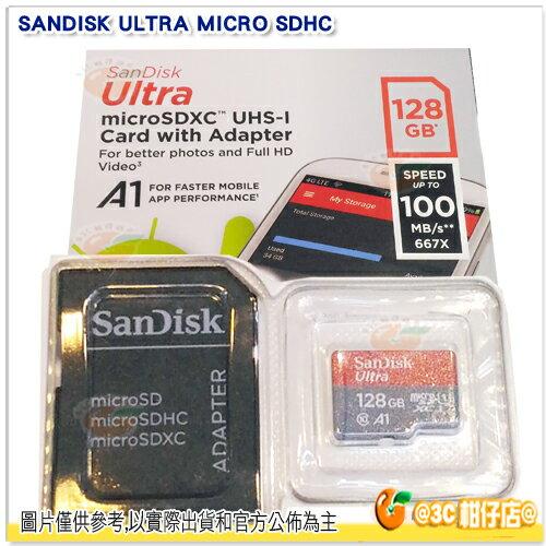 免運 SanDisk Ultra TF 128G 128GB 667X micro SDXC 100MB/s 100M 記憶卡 公司貨
