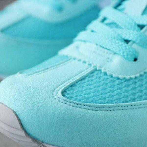 《限時特價799元》Shoestw【63W1SO66PH】PONY 復古慢跑鞋 休閒鞋 網布 透氣 淺藍綠白 女生 2