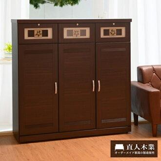 【日本直人木業】120cm星星BRACE鞋櫃
