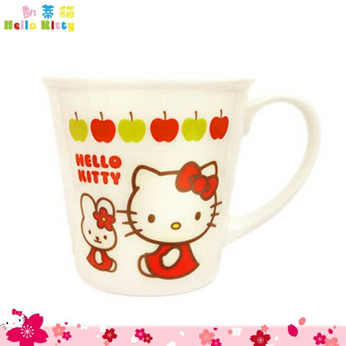 大田倉 韓國進口正版 Hello Kitty 凱蒂貓 陶瓷 馬克杯 白色 水杯 茶杯 陶瓷杯三麗鷗 029524