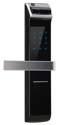 <br/><br/>  YALE耶魯  熱感觸控指紋密碼電子鎖YDM4109(黑) /指紋/密碼/KEY 三合一<br/><br/>