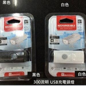 美麗大街【BK031216】RAYPAL USB 充電式300流明超亮前燈