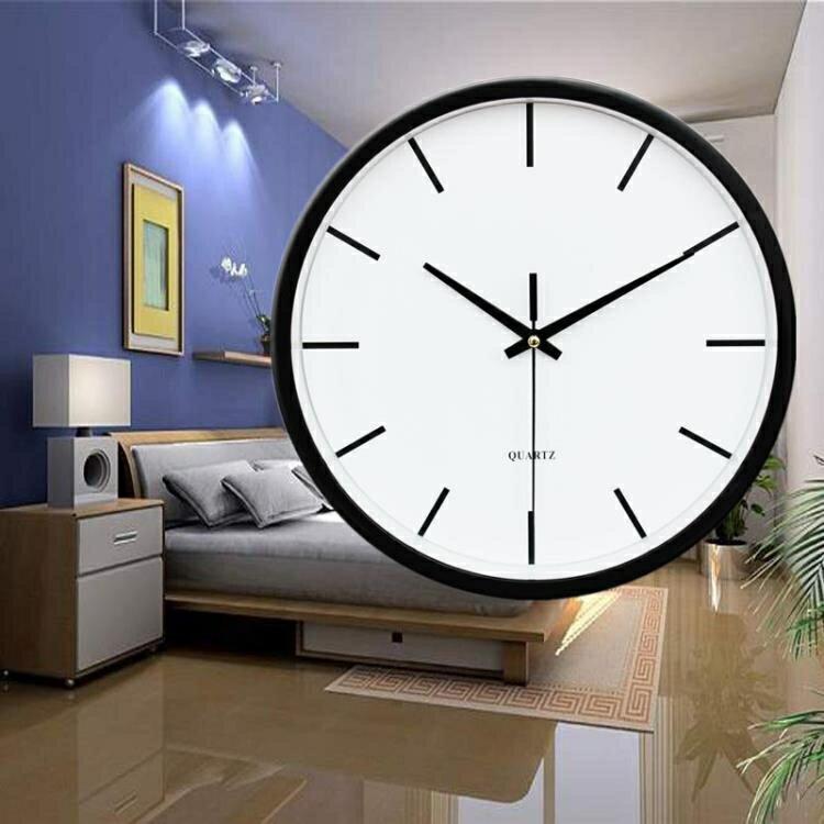 掛鐘客廳現代簡約創意時尚日式掛表臥室家用個性壁鐘電池石英時鐘