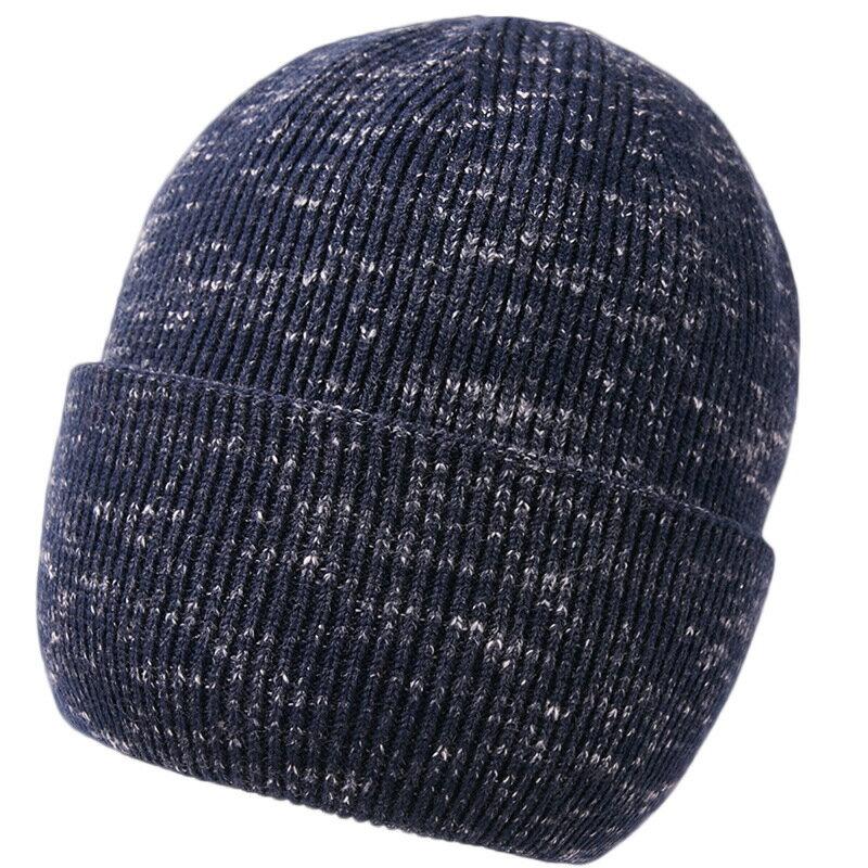 毛帽羊毛針織帽-簡約提花捲邊保暖男帽子2色73wj27【獨家進口】【米蘭精品】 0
