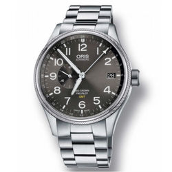 ORIS 豪利時0174877104164-0782219 GMT小秒針機械腕錶/黑面45mm