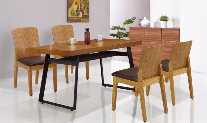 【尚品傢俱】JF-944-2 拉亞5 尺胡桃色餐桌
