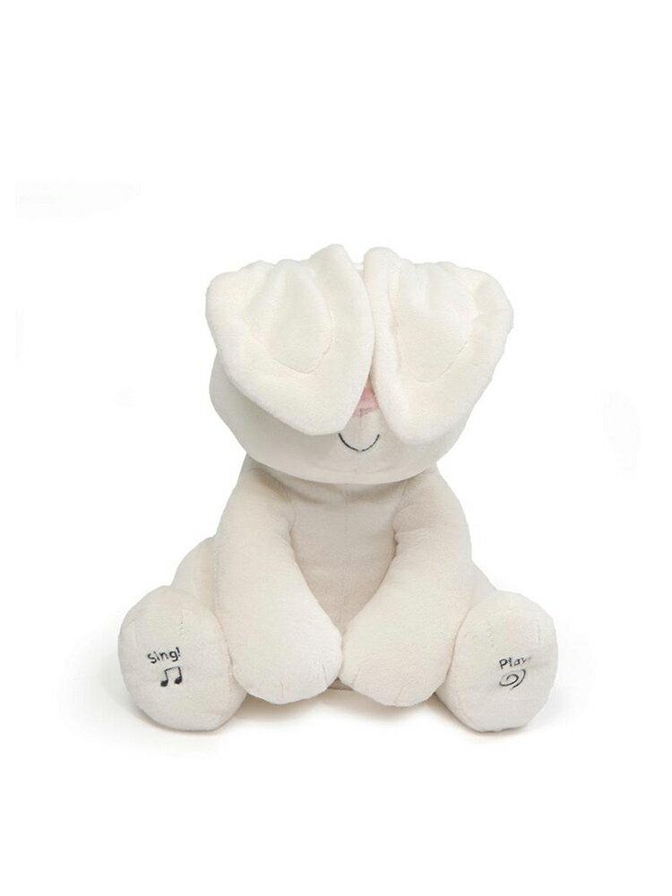 美國 GUND 小兔躲貓貓音樂互動玩偶