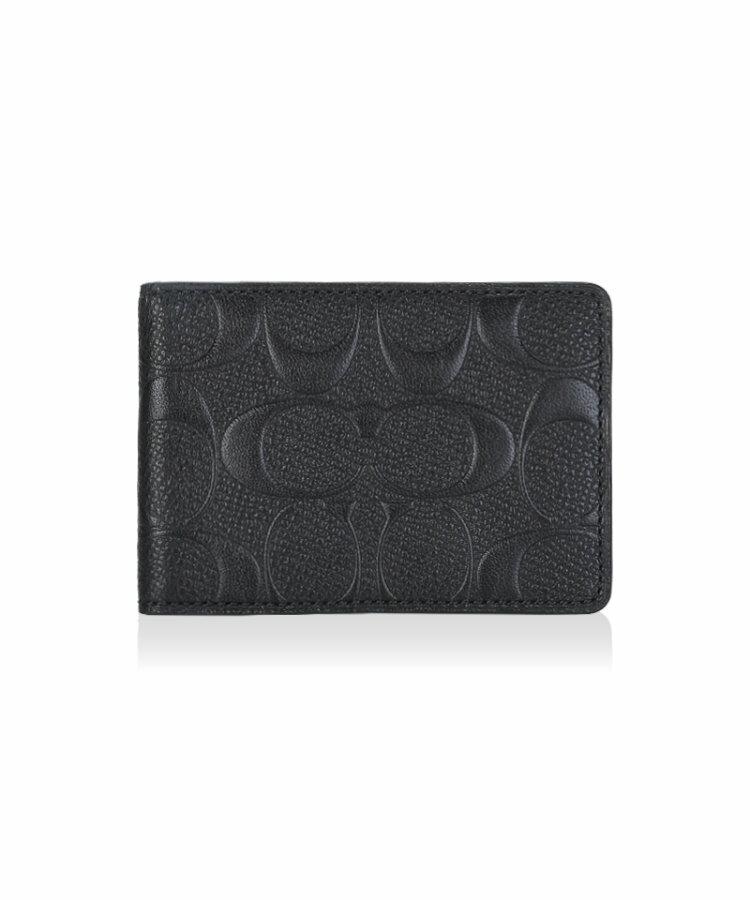 (Smile) COACH F74924 新品時尚經典印花短款錢夾