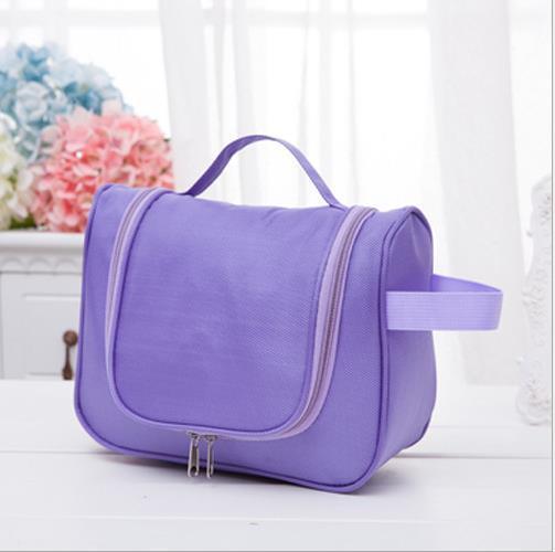 多 旅行包洗漱包防水收納包手提便攜掛式化妝包~紫色