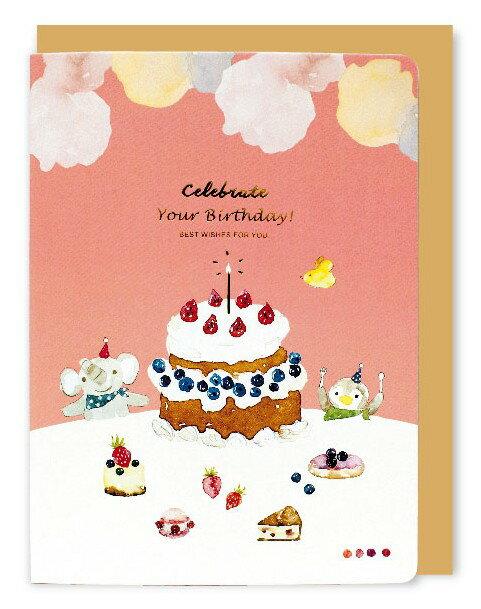 大賀屋 栗子 蛋糕 水彩 簽名板 萬用卡 賀卡 小卡 台灣製 大卡片 T00130035