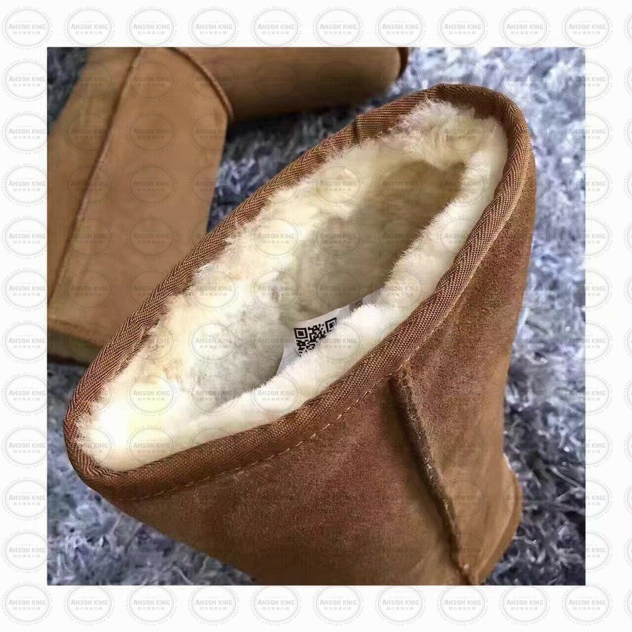 OUTLET正品代購 澳洲 UGG 經典女款羊皮毛一體雪靴 中長靴 保暖 真皮羊皮毛 雪靴 短靴 灰色 1