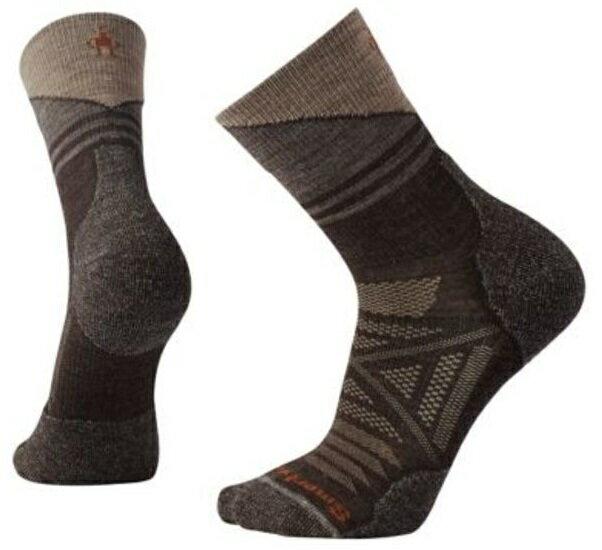 【【蘋果戶外】】Smartwool SW001207 207 栗子棕 PhD 戶外輕量減震印花中長統筒襪 登山襪 美國製造 美麗諾羊毛襪 保暖