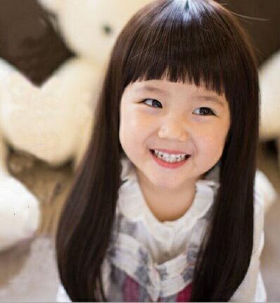 水媚兒假髮E~7~ 兒童假髮 小學生長直髮 齊瀏海 ~ 或
