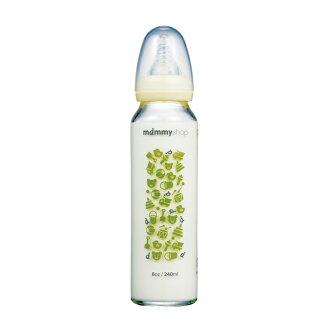 媽咪小站mammy shop--母感體驗a33玻璃防脹氣奶瓶 標準口徑240ml【台灣製造】