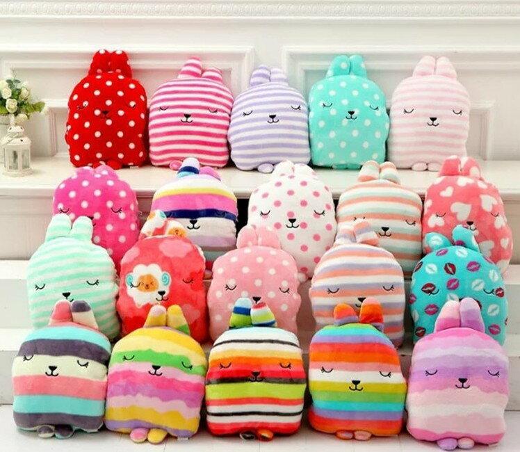 日本梨花兔抱枕 手暖毛毯 三合一毯 超可愛三合一抱枕毯【H00183】